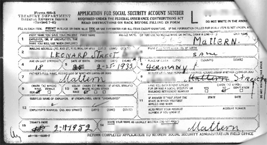 Form Ss Application For A Social Security Number  Climb Your